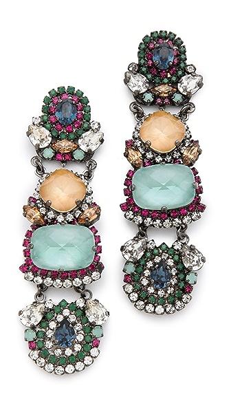 Erickson Beamon Modern Moghul Drop Earrings
