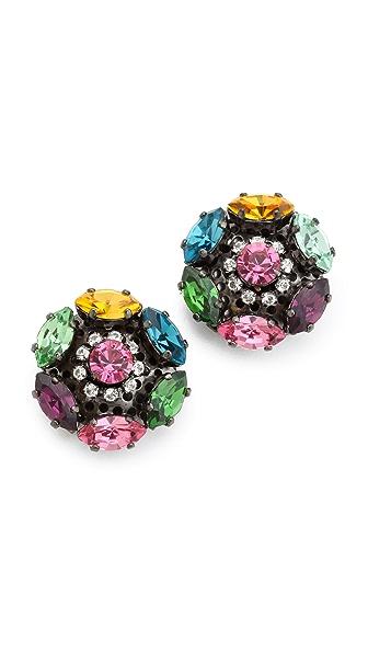 Erickson Beamon Modern Moghul Stud Earrings