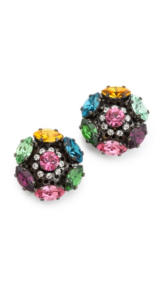 Erickson Beamon Modern Moghul Stud Earrings