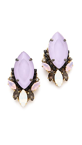Erickson Beamon Pretty in Punk Cluster Earrings