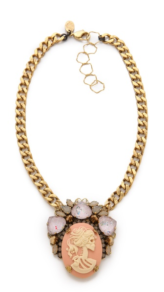 Erickson Beamon Pretty in Punk Cameo Statement Necklace
