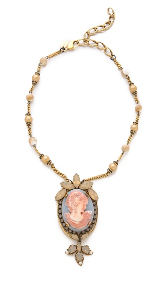 Erickson Beamon Pretty in Punk Cameo Necklace