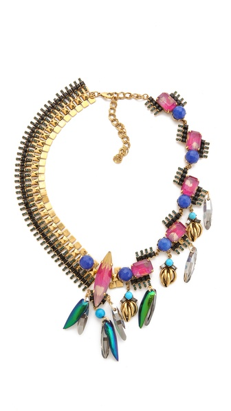 Erickson Beamon Aquarella Do Brasil Asymmetrical Necklace