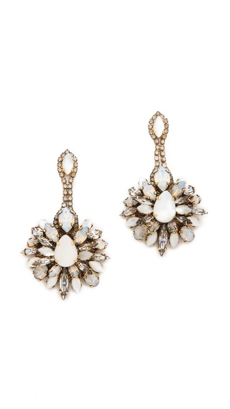 Erickson Beamon Whiter Shade of Pale Crystal Earrings