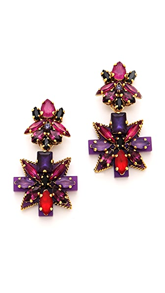 Erickson Beamon Girls On Film Crystal Earrings