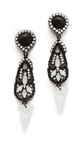 Erickson Beamon Getting Better All The Time Teardrop Earrings