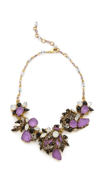 Erickson Beamon White Wedding Statement Necklace