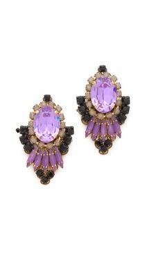 Erickson Beamon Pretty In Pink Statement Earrings