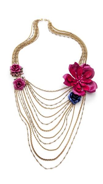 Erickson Beamon Urban Jungle Draping Necklace