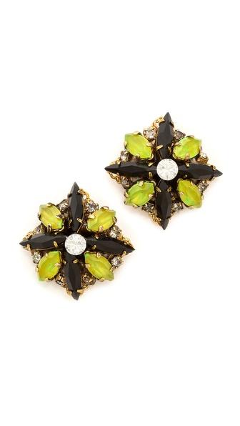 Erickson Beamon Queen Bee Stud Earrings