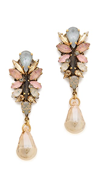 Erickson Beamon Teardrop Crystal Earrings