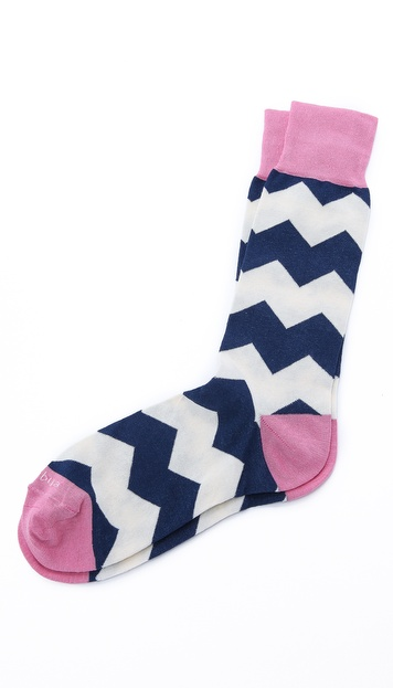 Etiquette Everest Stripes Mid-Calf Socks