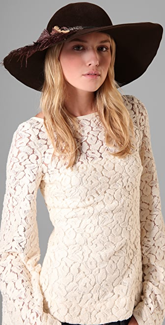 Eugenia Kim Honey Felt Floppy Hat