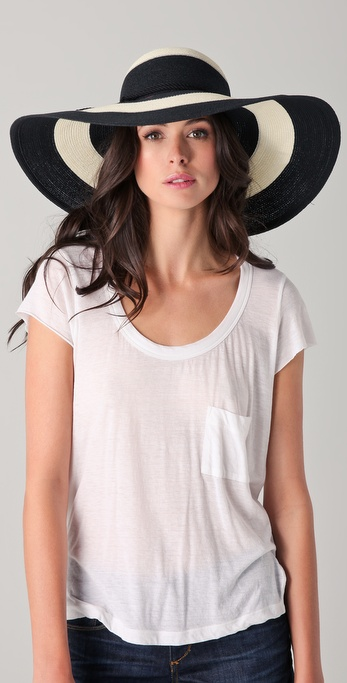 Eugenia Kim Bunny Wide Striped Sunhat