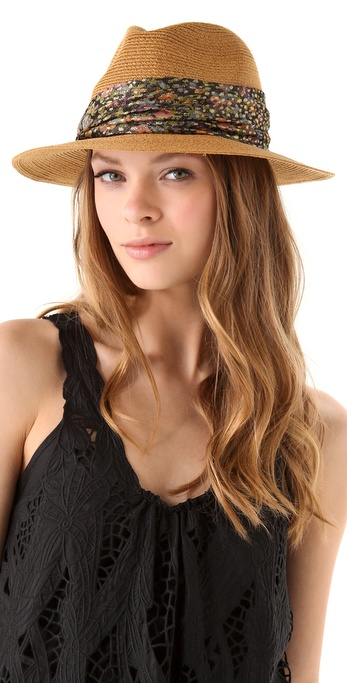 Eugenia Kim Kurt Fedora with Metallic Floral Band