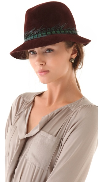 Eugenia Kim Dree Fedora with Pheasant Feather Band