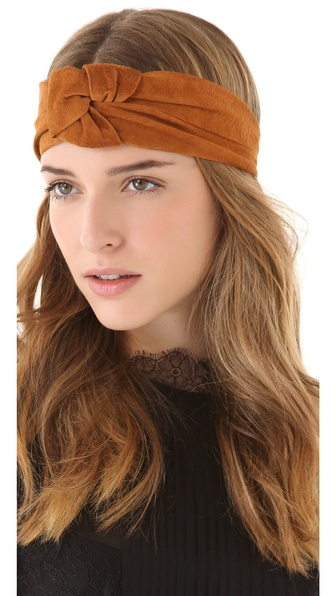 Eugenia Kim Alexis Suede Turban Knot Headband