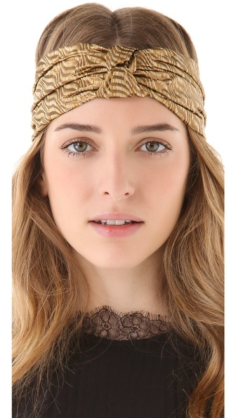 Eugenia Kim Natalia Brocade Turban Knot Headband
