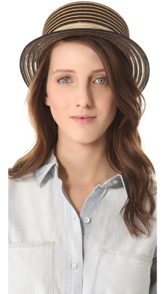 Eugenia Kim Marcel Boater Hat - Camel/Black/Natural at Shopbop / East Dane
