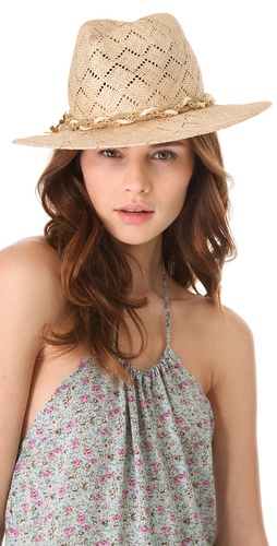 Eugenia Kim Bianca Chevron Hat at Shopbop.com