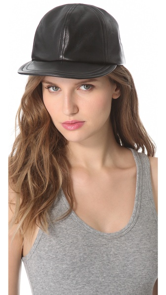 Eugenia Kim Darien Leather Baseball Cap