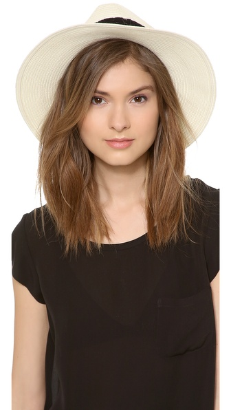 Eugenia Kim Genie Billie Wide Brimmed Straw Fedora