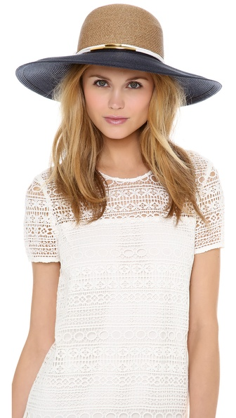 Eugenia Kim Honey Hat - Camel/Navy/White/Gold at Shopbop / East Dane