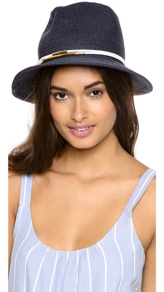 Eugenia Kim Lillian Hat - Navy/White/Gold at Shopbop / East Dane