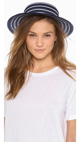 Eugenia Kim Brigitte Hat - Navy/Ivory at Shopbop / East Dane