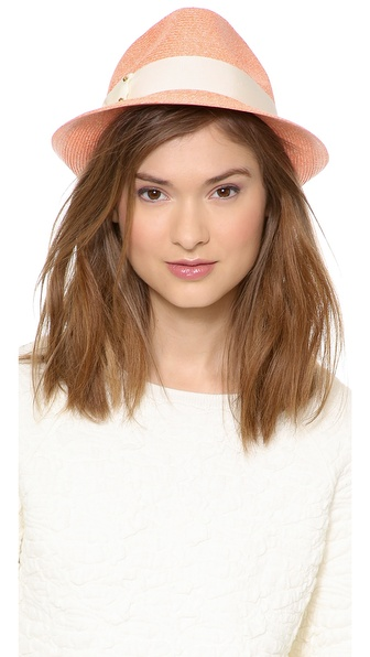 Eugenia Kim Craig Hat - Light Coral/Ivory/Gold at Shopbop / East Dane
