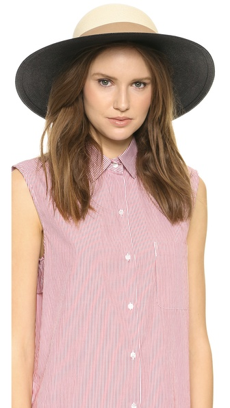 Eugenia Kim Honey Sun Hat - Ivory/Black at Shopbop / East Dane
