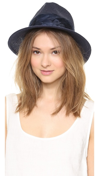 Eugenia Kim Lillian Hat - Navy at Shopbop / East Dane
