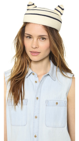 Eugenia Kim Caterina Hat - Ivory/Navy at Shopbop / East Dane