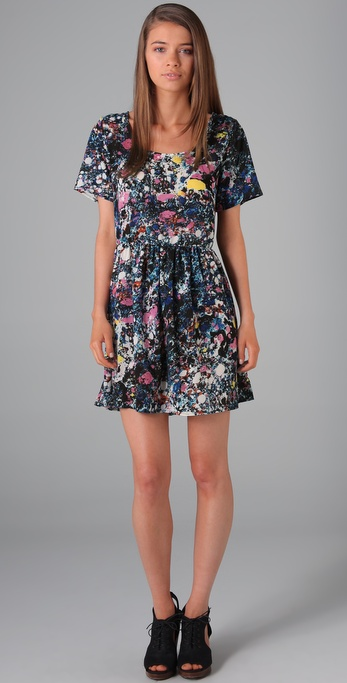 Evil Twin Print Baby Doll Dress