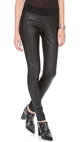 EVLEO Faux Leather Leggings