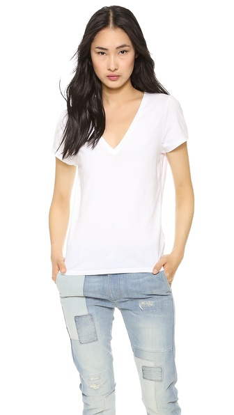 Faherty V Neck Tee