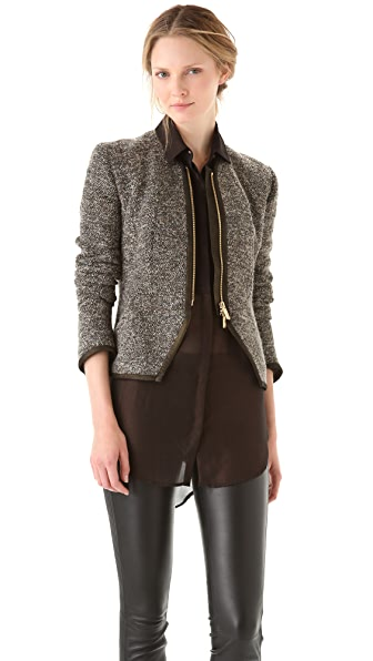 Faith Connexion Peplum Tweed Jacket