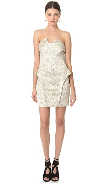 Faith Connexion Reptile Brocade Dress