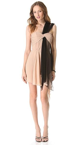 Faith Connexion Draped One Shoulder Dress