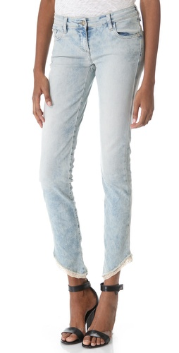 Faith Connexion Lace Trimmed Jeans