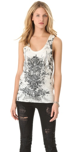 Faith Connexion Tie & Die Tank Top