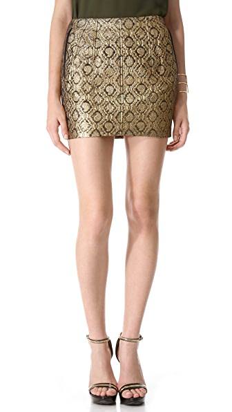 Faith Connexion Metallic Brocade Skirt