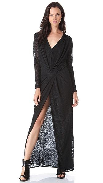 Faith Connexion Leopard Jersey Long Dress
