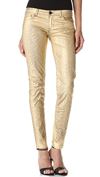 Faith Connexion Metallic Coated Skinny Jeans