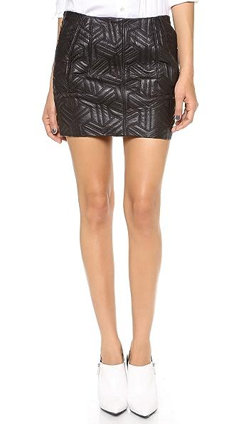 Faith Connexion Embossed Leather Miniskirt