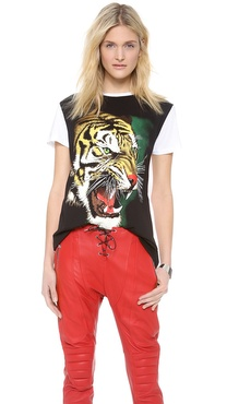 Faith Connexion Tiger Print T Shirt