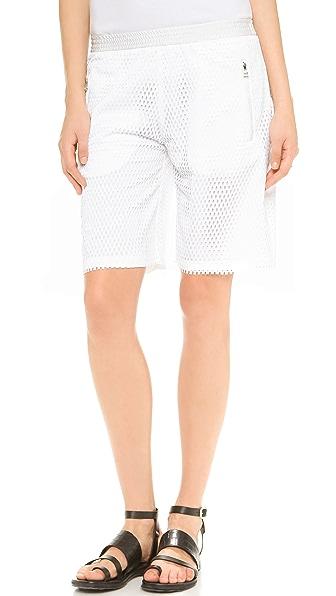Faith Connexion Perf Mesh Bermuda Shorts
