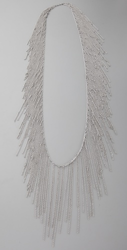 Fallon Jewelry Chain Fringe Necklace