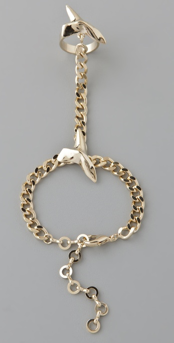 Fallon Jewelry Shark Attack Hand Chain