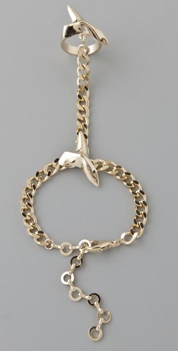 Fallon Jewelry Shark Attack Hand Chain